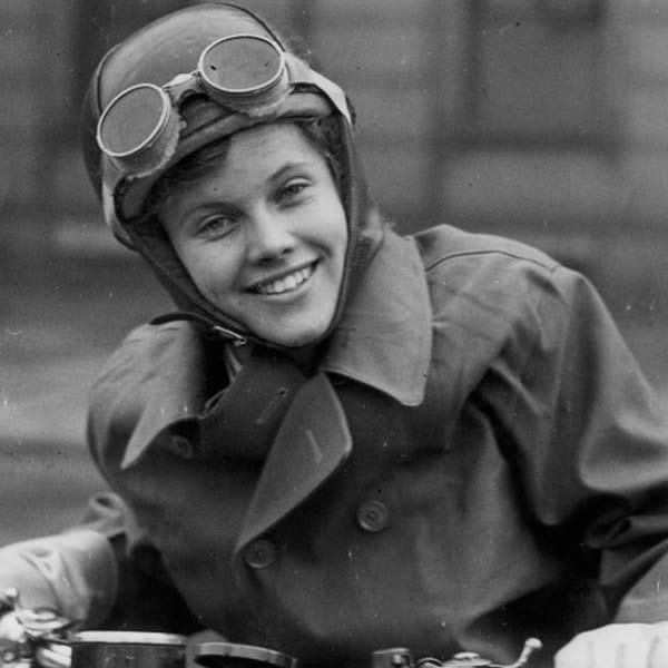 She served as a dispatch rider during World War Two