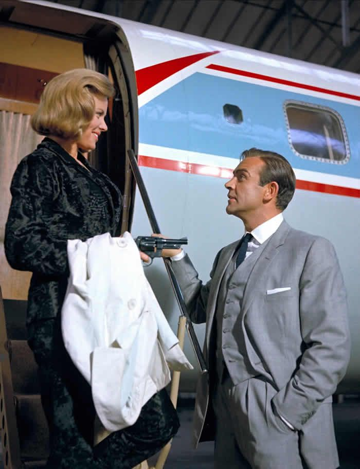 Honor Blackman and Sean Connery in Goldfinger. Photograph: Allstar/United Artists