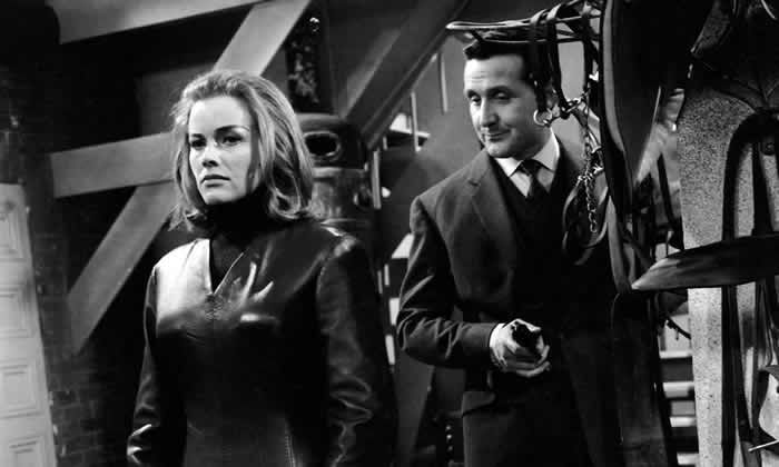 Honor Blackman with Patrick Macnee in The Avengers. Photograph: ABC/Allstar/StudioCanal
