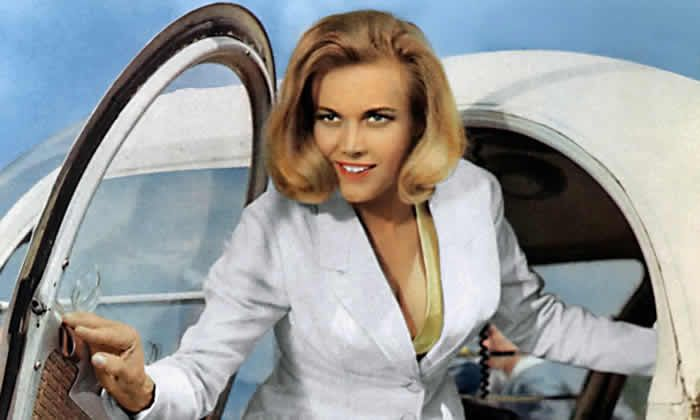 Honor Blackman as Pussy Galore in Goldfinger. Photograph: United Artists/Allstar