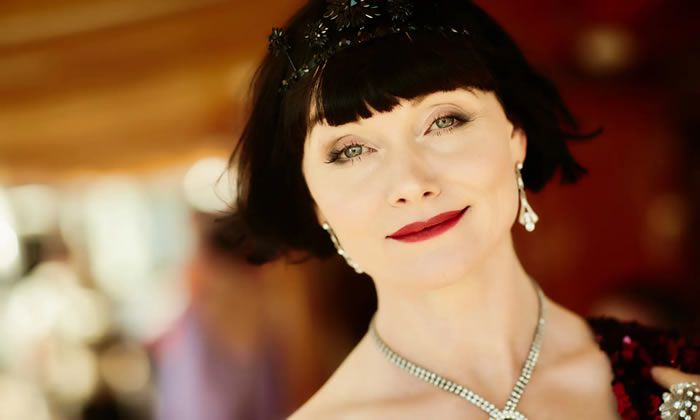 Essie Davis as Phryne Fisher in Miss Fisher's Murder Mysteries. Photograph: ABC TV