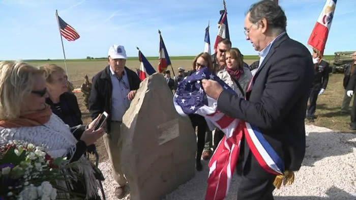 Une stèle en hommage à des soldats américains a été inaugurée en Seine-et-Marne. / France 3 Paris - Île-de-France