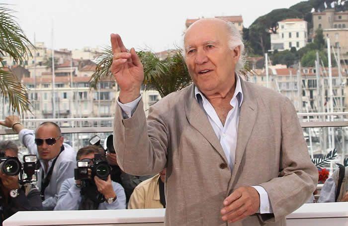 """Le 13 mai 2011, Michel Piccoli à Cannes pour défendre le film """"Habemus Papam"""" de Nanni Moretti. Photo Patrice Lapoirie."""