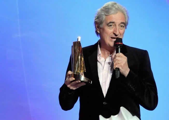 Jean-Loup Dabadie lors des Victoires de la Musique en 2008.  Crédit photo : BORIS HORVAT