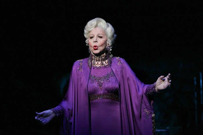 "Rosalind Elias in the musical ""Follies"" in the Marquis Theater in New York City in 2011. An opera star, she made her Broadway debut in the show at 82.Credit...Sara Krulwich/The New York Times"