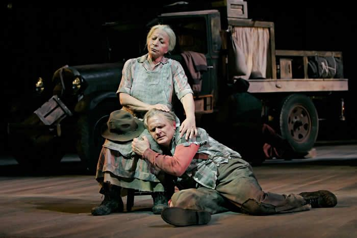 "Ms. Elias and Dan Dressen in a 2007 performance of ""The Grapes of Wrath"" at the Ordway Center in St. Paul, Minn. It was one of two world premieres she appeared in that year.Credit...Michal Daniel"