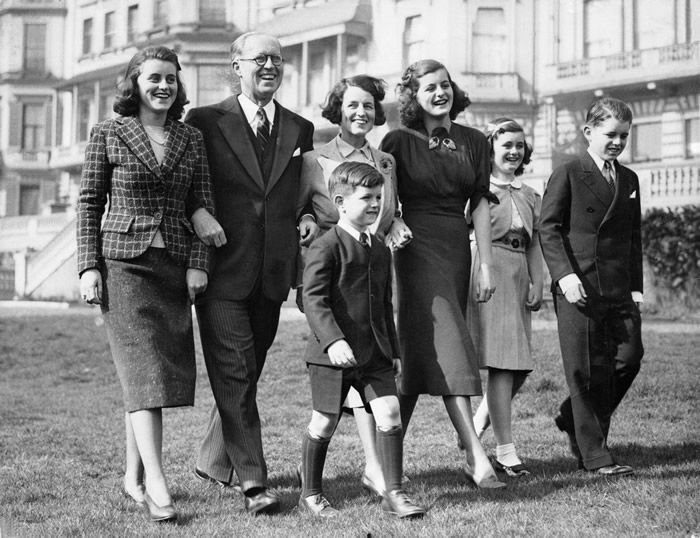 The Kennedy family in London in 1938, after Joseph P. Kennedy Sr. became the U.S. ambassador to Britain. Jean is second from the right.Credit...The New York Times