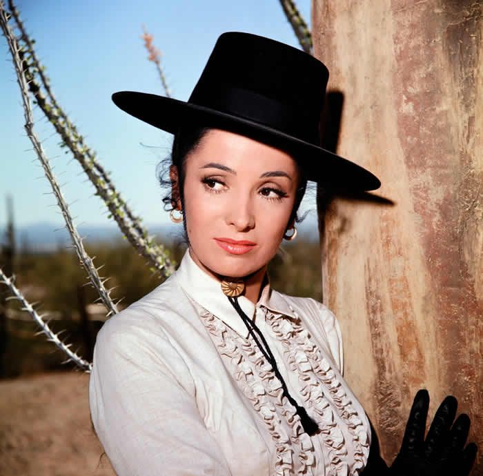 "Linda Cristal as Victoria Montoya Cannon in ""The High Chaparral."" She made films in Mexico before coming to Hollywood.Credit...BCU Photo Bank/NBCUniversal, via Getty Images"
