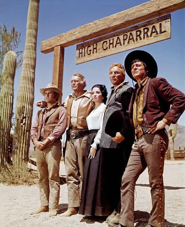 "The cast of ""The High Chaparral,"" from left, Mark Slade, Leif Erickson, Ms. Cristal, Cameron Mitchell and Henry Darrow.Credit...NBC/NBCU Photo Bank, via Getty Images"