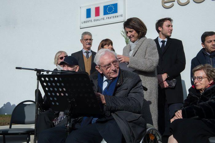 En novembre 2019, lors de l'inauguration d'une école à son nom. Photo ER/Christian LEMONTEY1 /1