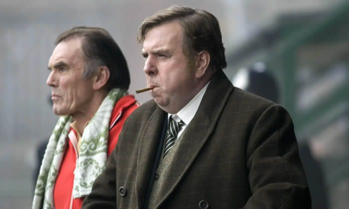 Maurice Roëves as Jimmy Gordon with Timothy Spall as Peter Taylor, right, in The Damned United, 2009. Photograph: Allstar/BBC/Sportsphoto