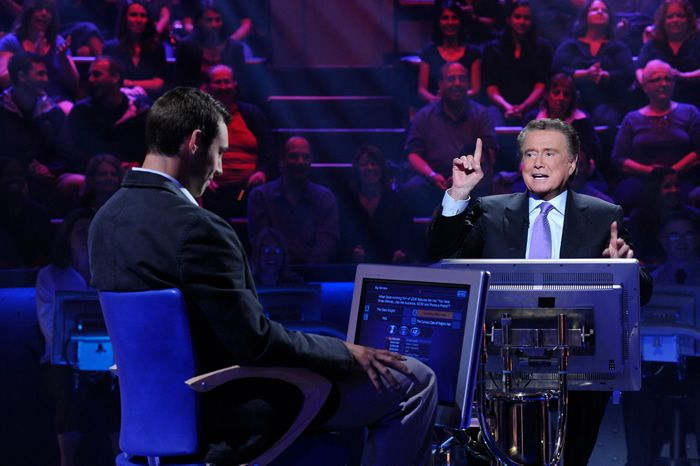 """""""Who Wants to Be a Millionaire"""" made Mr. Philbin ABC's biggest star. He hosted an 11-night prime-time reincarnation in 2009, on the 10th anniversary of its debut.Credit...Donna Svennevik/ABC"""