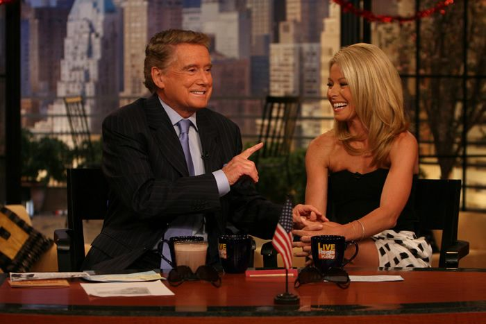 Mr. Philbin in 2007 with Kelly Ripa, who replaced Ms. Gifford as co-host in 2001, and who became known for playing his chatterbox sidekick. Credit...Buena Vista Television/Associated Press