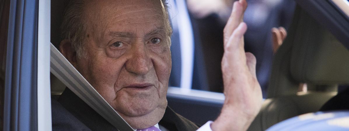 L'ex-roi d'Espagne Juan Carlos à Palma de Majorque (Espagne), le 1er avril 2018. (JAIME REINA / AFP)