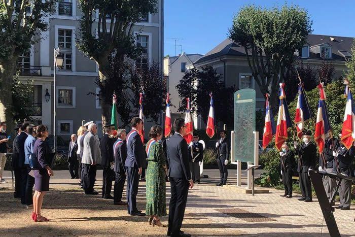À Tours (Indre-et-Loire), commémoration Esplanade des Justes dimanche 19 juillet • JP Elme