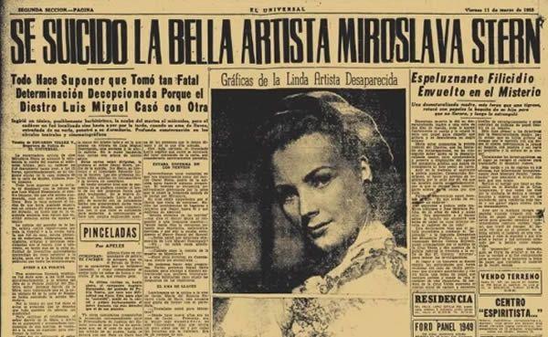 El suicidio de Miroslava Stern