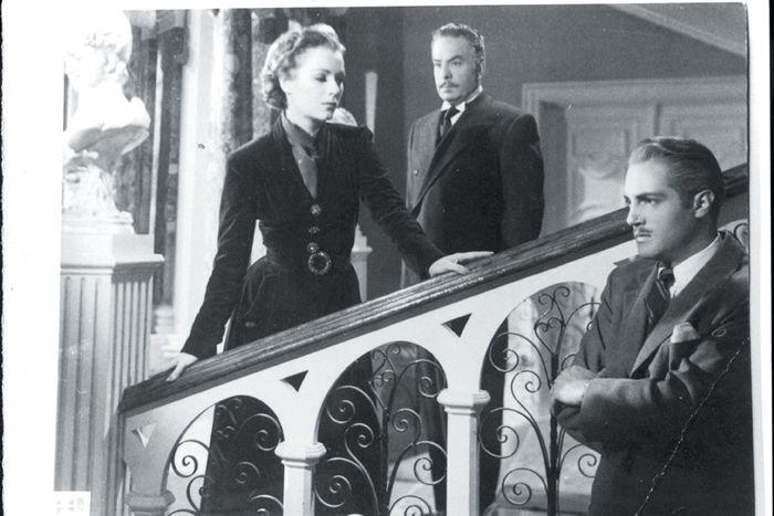 La diva en compañía de Julio Villareal y Roberto Cañedo, en la cinta La casa chica. (Foto: Cortesía)