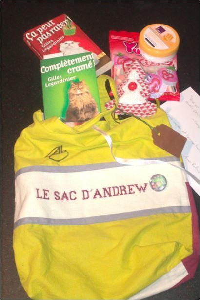 N°246 Le sac d'Andrew : 29ème voyage pour Sylvie R