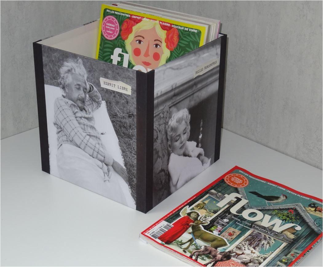 Cartonnage : boîte à Flow Magazines