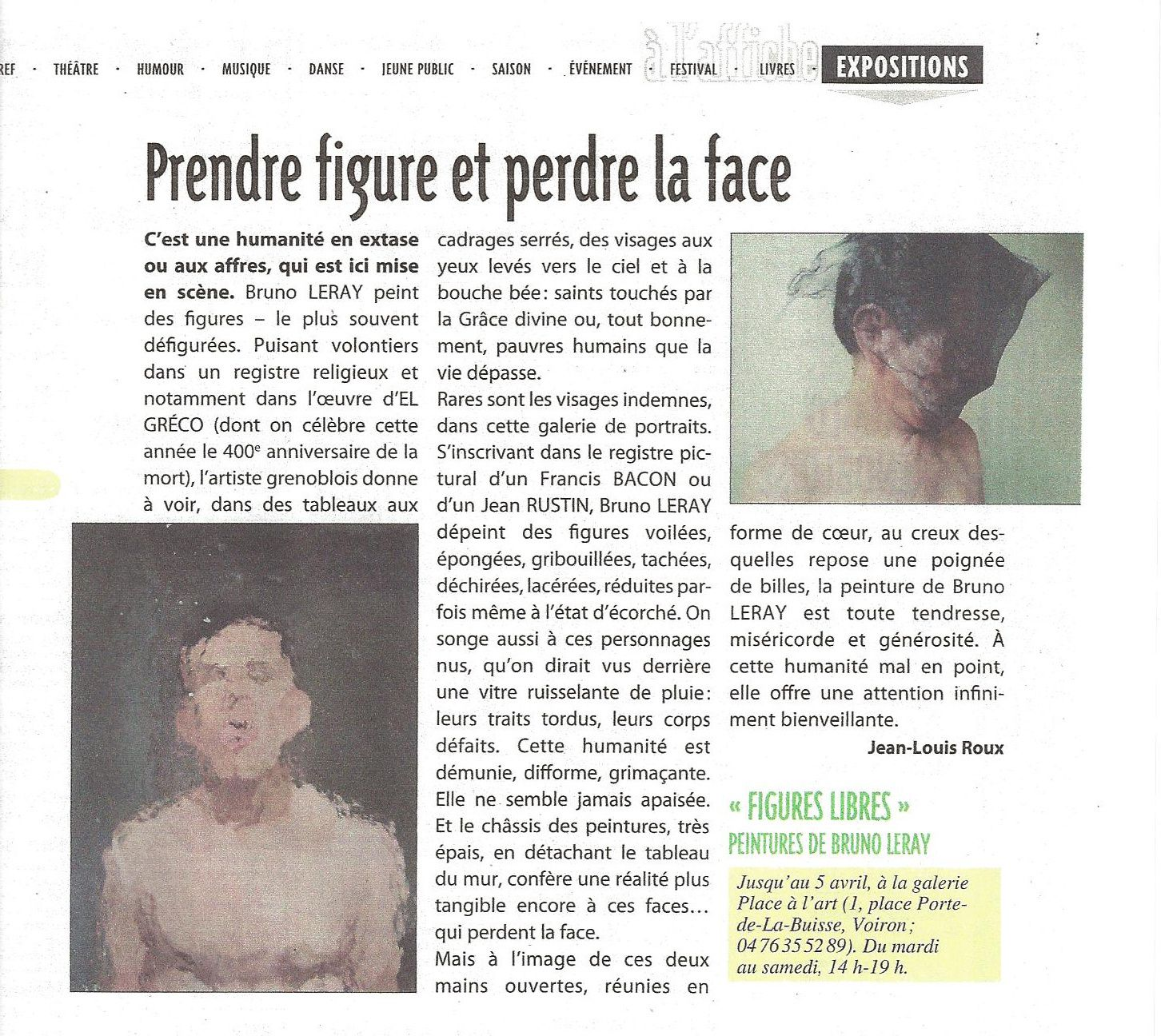 Bruno LERAY: du 11 mars au 5 avril 2014