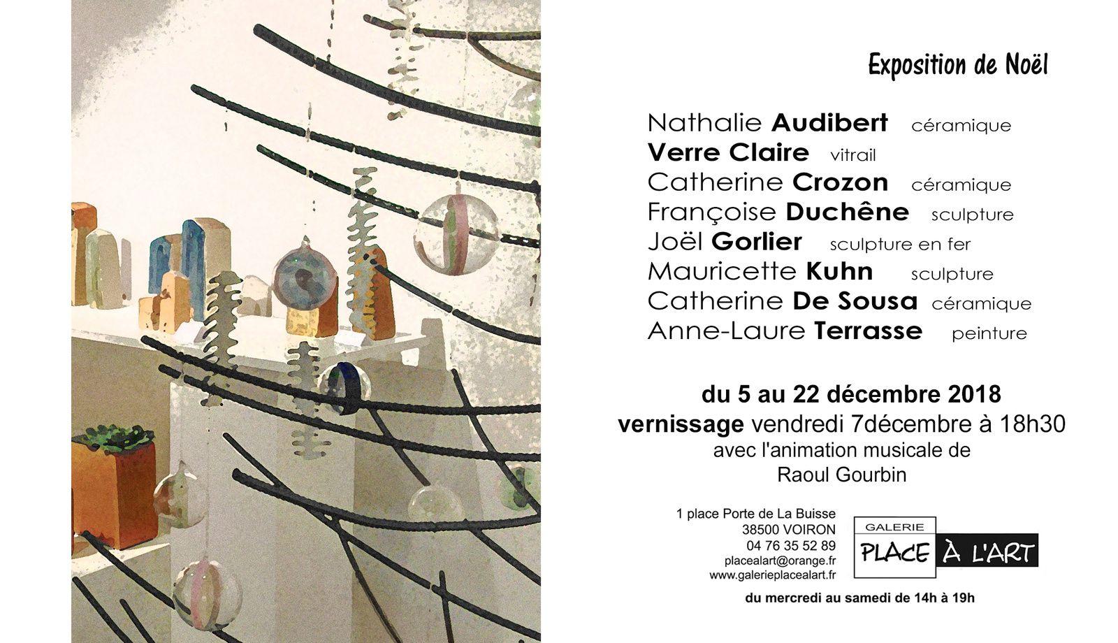 Exposition de Noël 2018 : du 5 au 22 décembre 2018