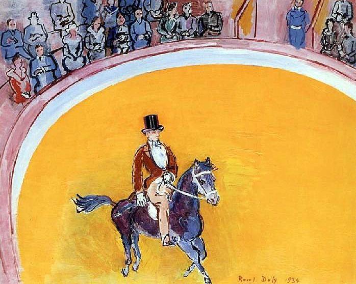 Raoul Dufy (1877-1953)  peintre aussi de la sciure et de la piste