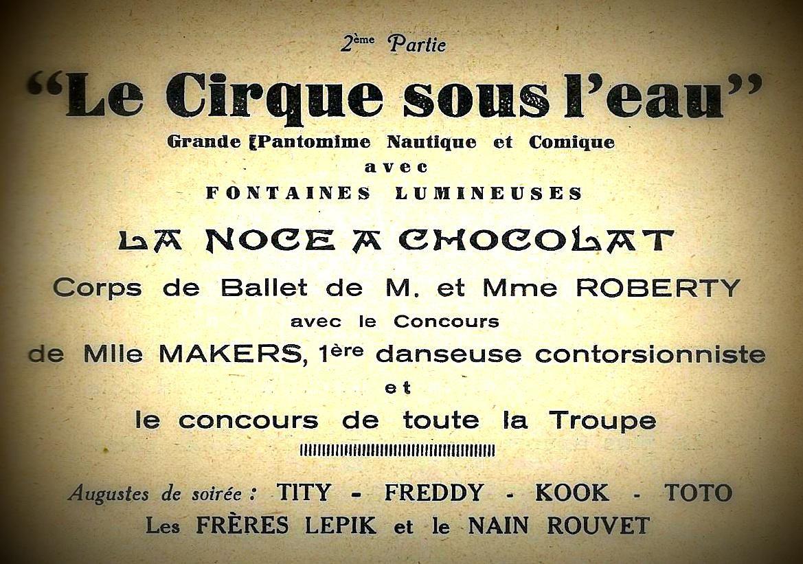 Le Cirque sous l'eau chez Pinder