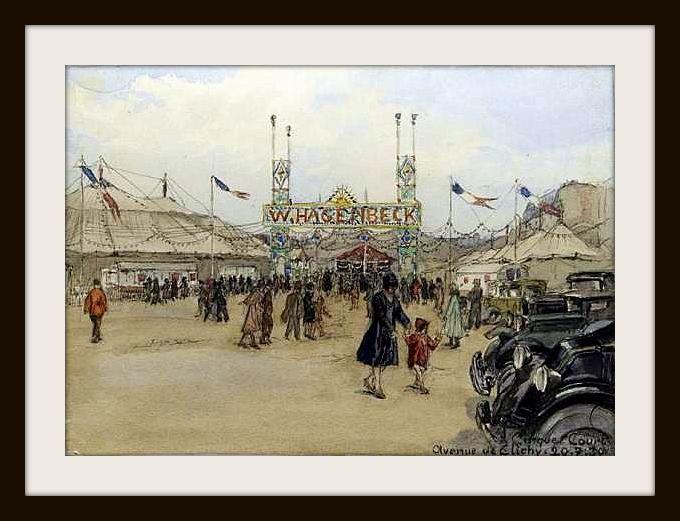 Le Chapiteau du cirque Hagenbeck en 1930