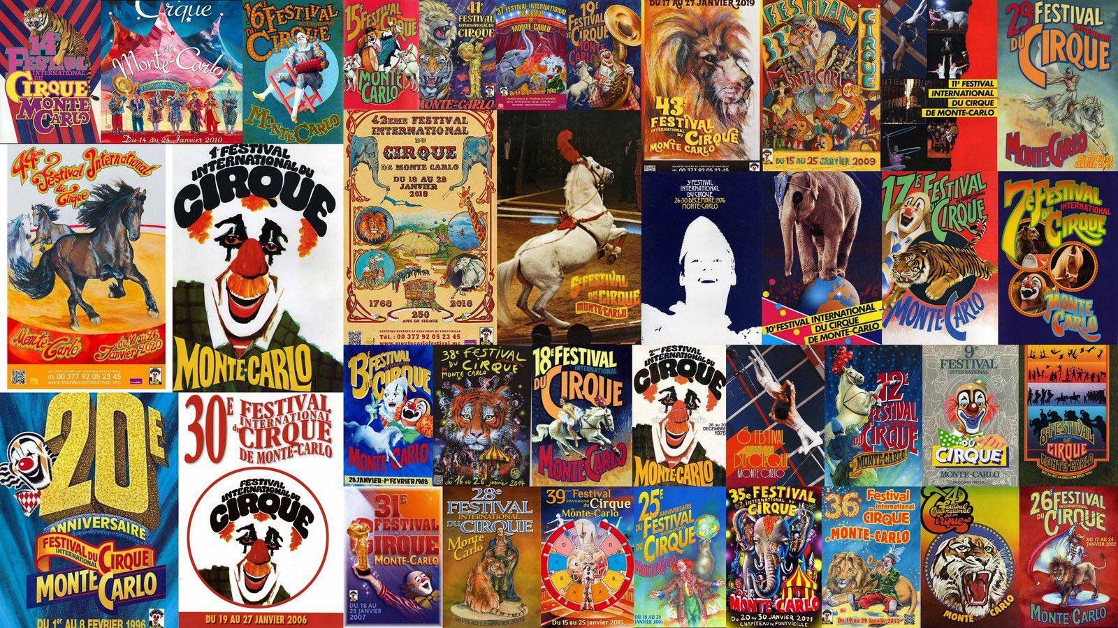 Les Visuels du Festival International du Cirque de Monte Carlo