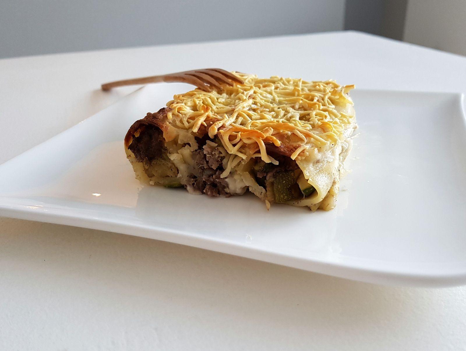 Cannellonis au bœuf, courgettes et 4 épices
