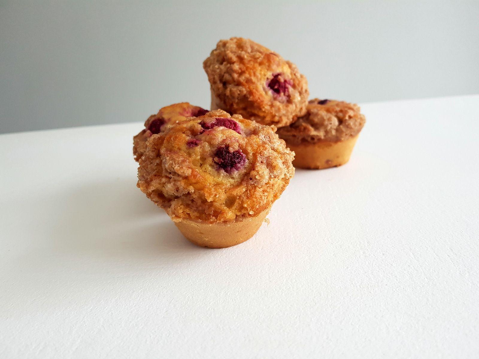 Muffins framboises, amandes