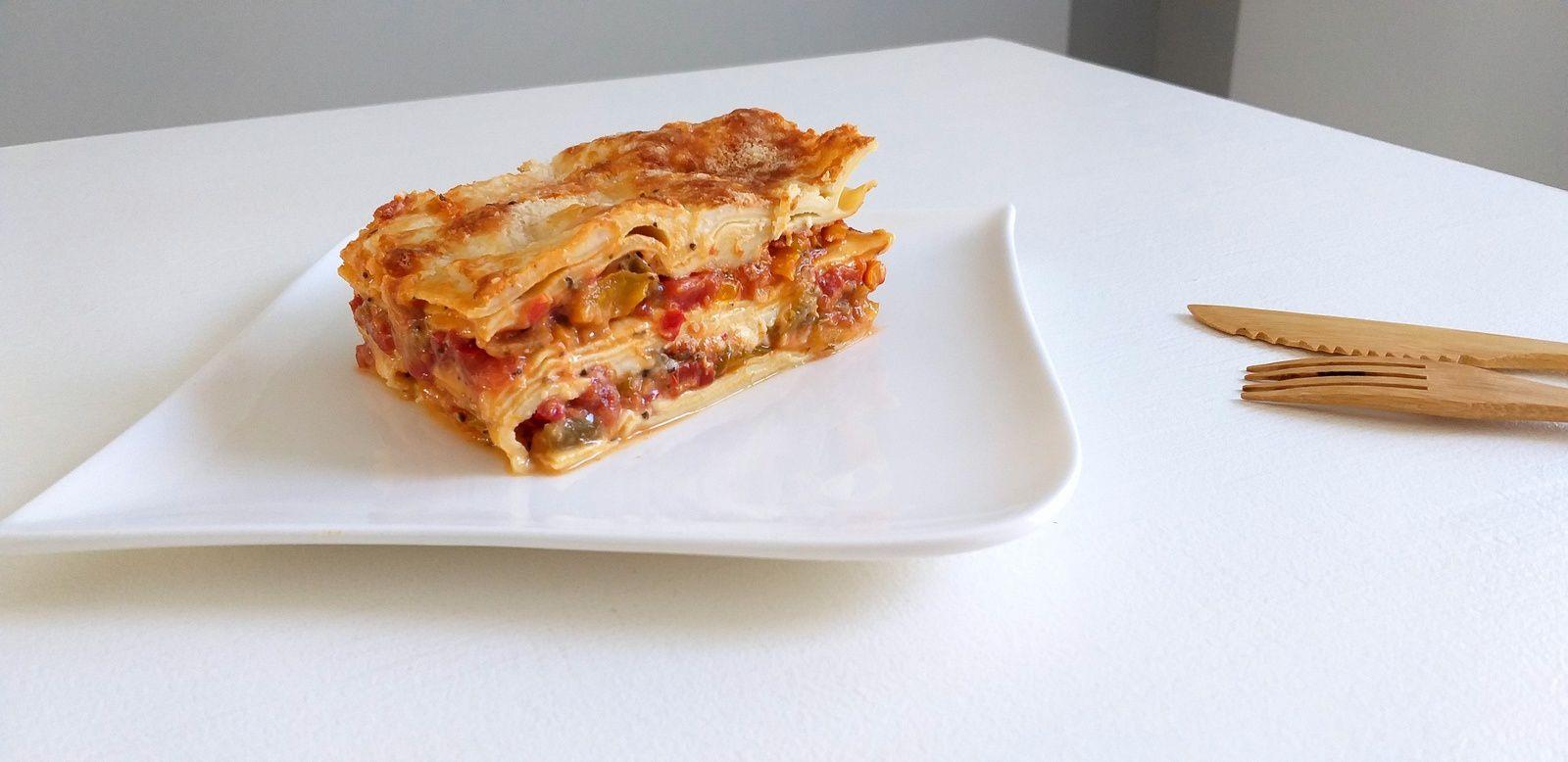 Lasagne poivrons, mozzarella