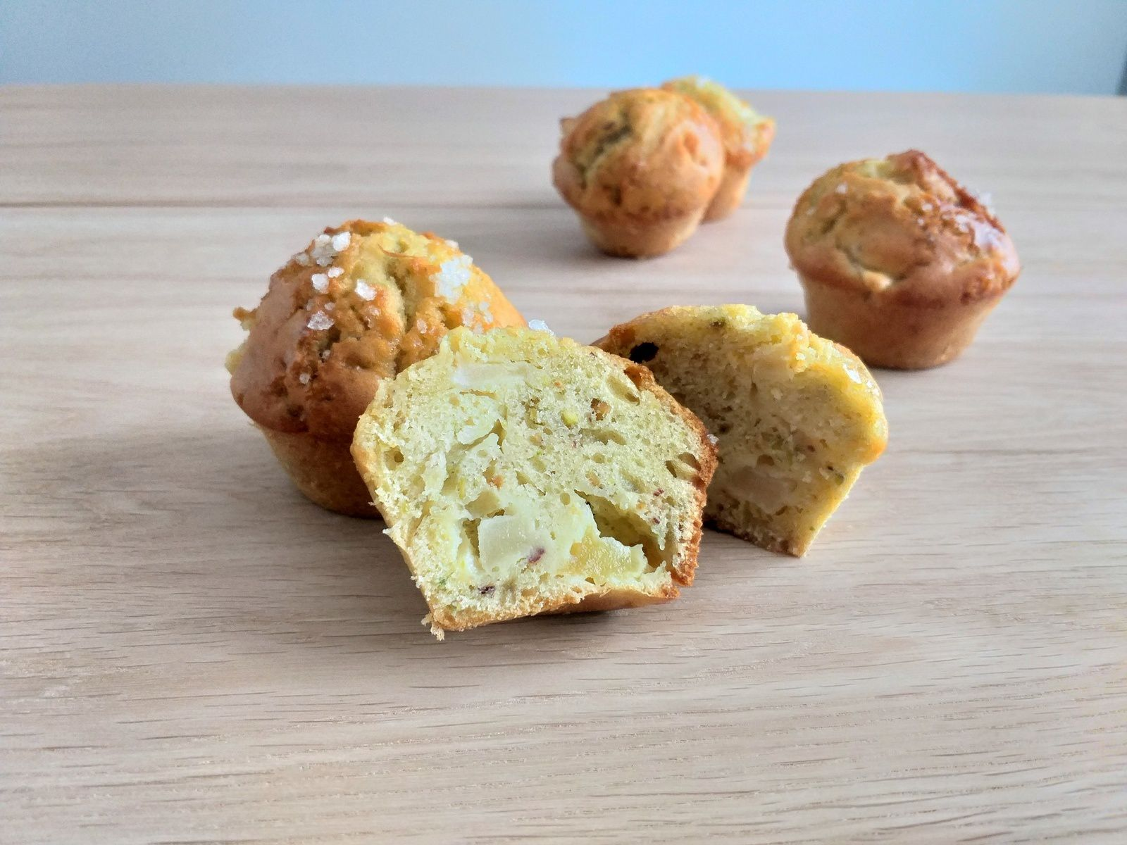 Muffins pommes, pistaches