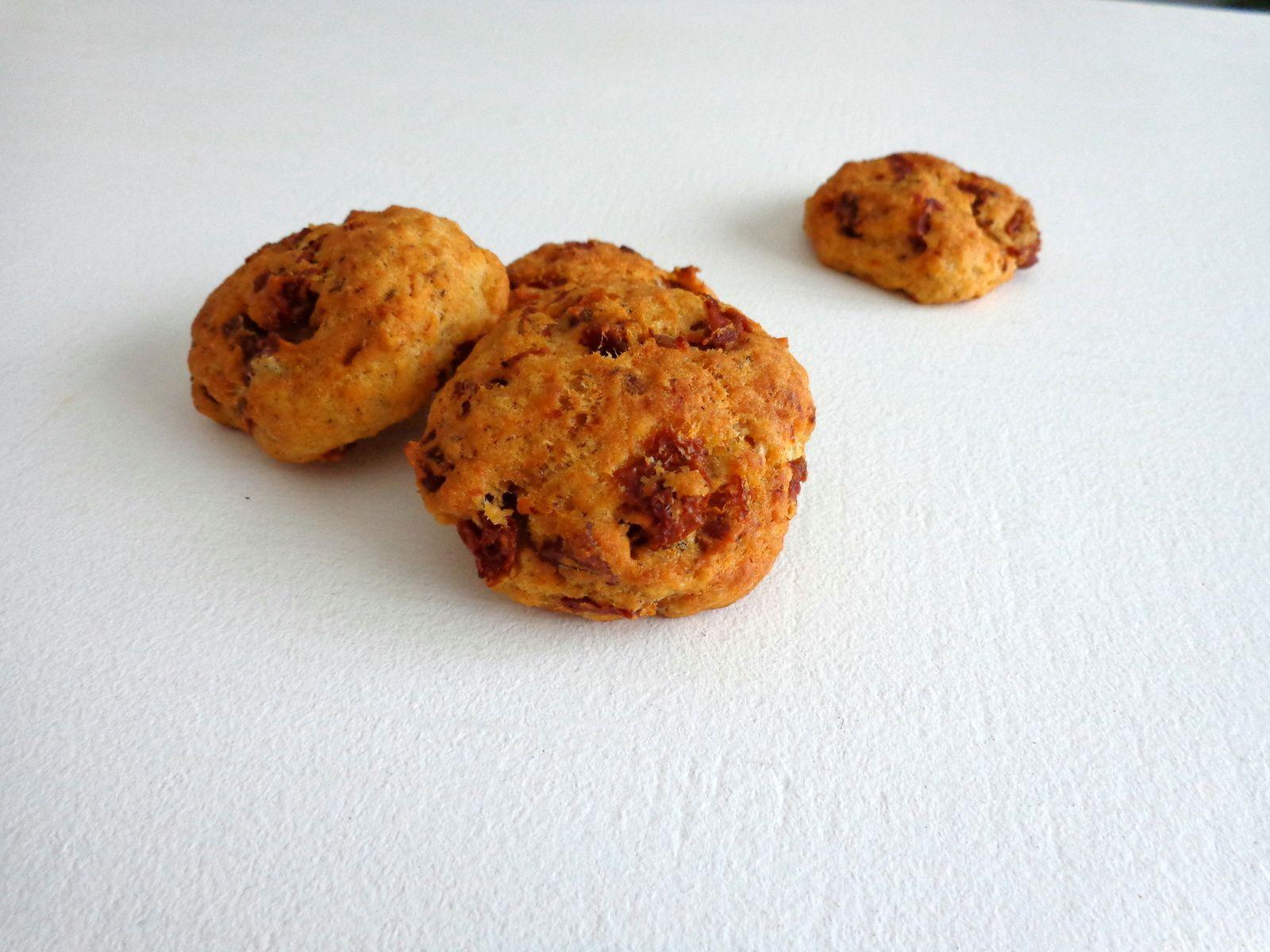 Cookies tomates séchées, chorizo
