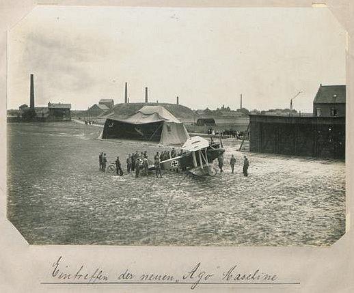 Juin 1917 - Aérodrome d'Emerchicourt , verrerie d'en haut