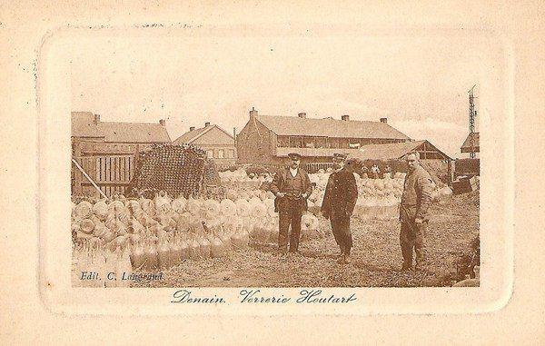 Verreries HOUTART à Denain ( Bouteilles et dame Jeanne )