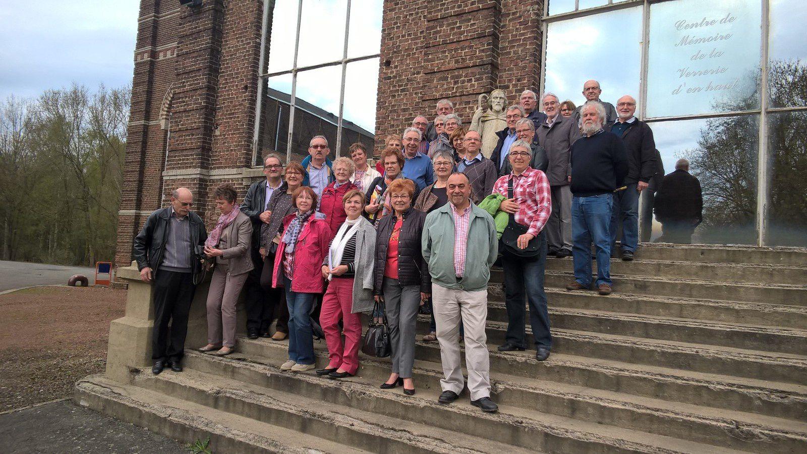 Visite du 10 avril 2018 du Centre de Mémoire  - 30 Personnes de l'Association Double de la Clef de Lauwin-Planque