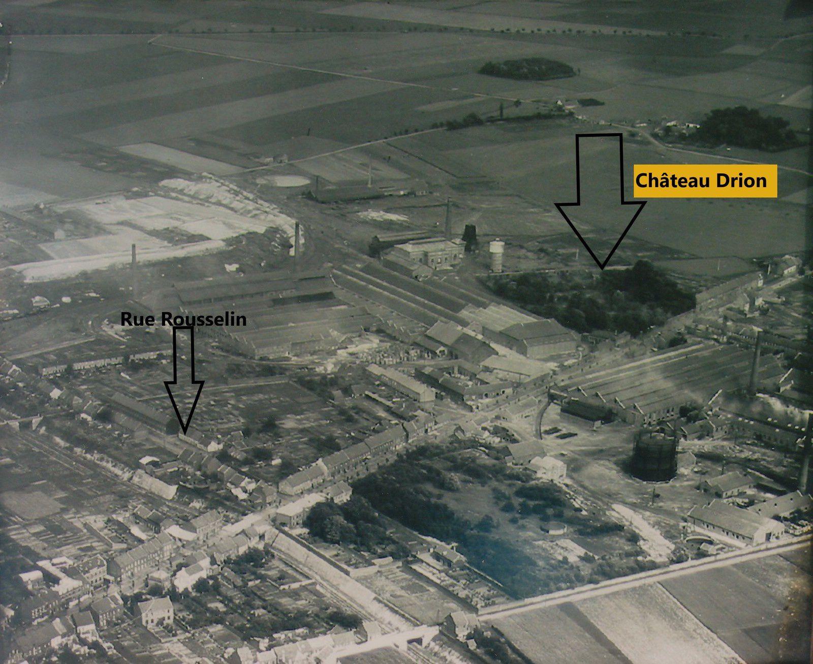 Il était situé , sur la route de Calais à Saint-Quentin ( devenue le Boulevard Drion ), à gauche en partant sur Bouchain à la sortie d'Aniche juste avant Emerchicourt, dans le parc situé à droite du corps de gardes  en rentrant chez Saint-Gobain