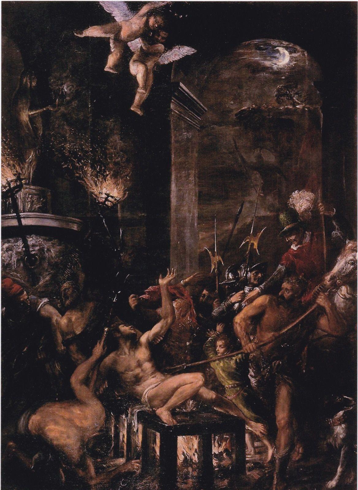 SAINT-LAURENT saint patron des verriers - Peintures