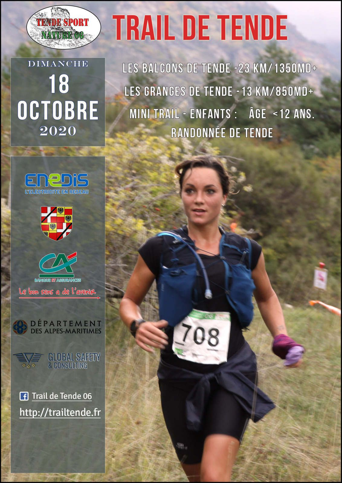 TENDE TRAILS 18 OCTOBRE