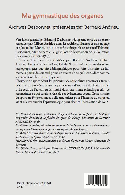 Edmond Desbonnet, ma gymnastique des organes