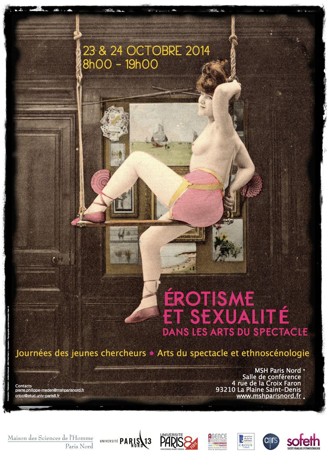 Programme : Érotisme et sexualité dans les arts du spectacle (23 & 24 octobre 2014)