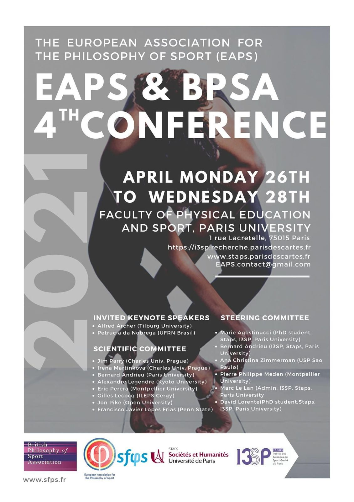 Congrès de la European Association Philosophy of Sport