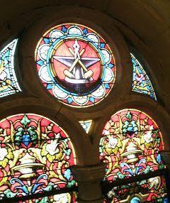 Vitrail - Don des ouvriers forgerons- Eglise St Martin - Hayange