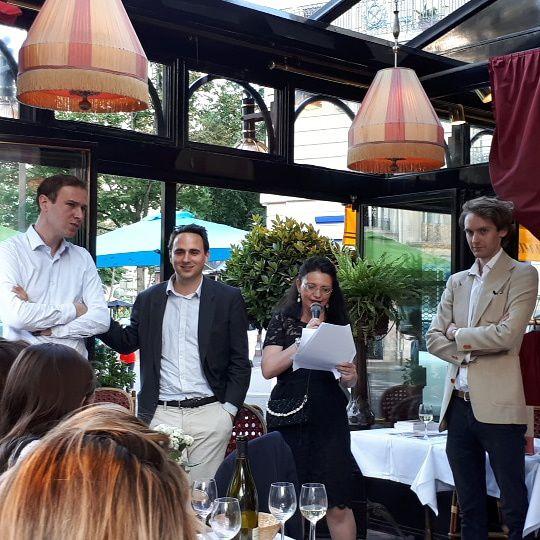 Remise du Prix littéraire Rive Gauche à Paris 2018 au Dôme, Paris le 28 Juin 2018. La revue Raskar Kapac. Laurence Biava. Photo : © Eric Dubois