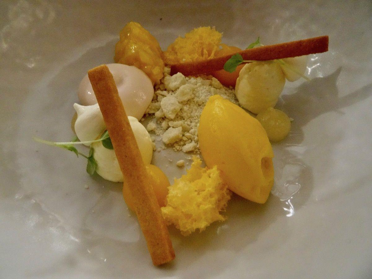 Dessert mangue, citronnelle...