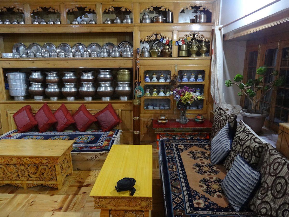 Petit salon de notre guesthouse