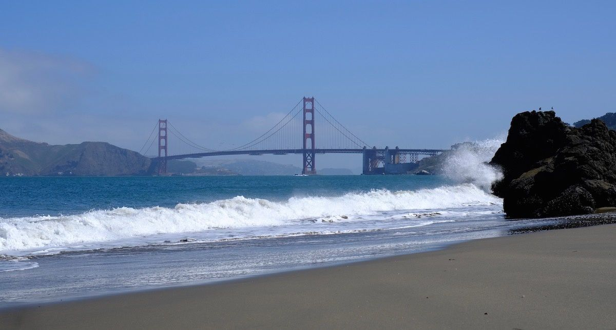 Golden Gate Bridge, vu de China Beach
