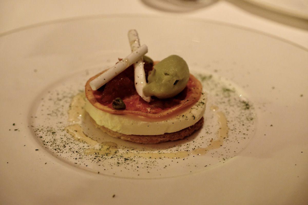 Pamplemousse, chocolat blanc et estragon
