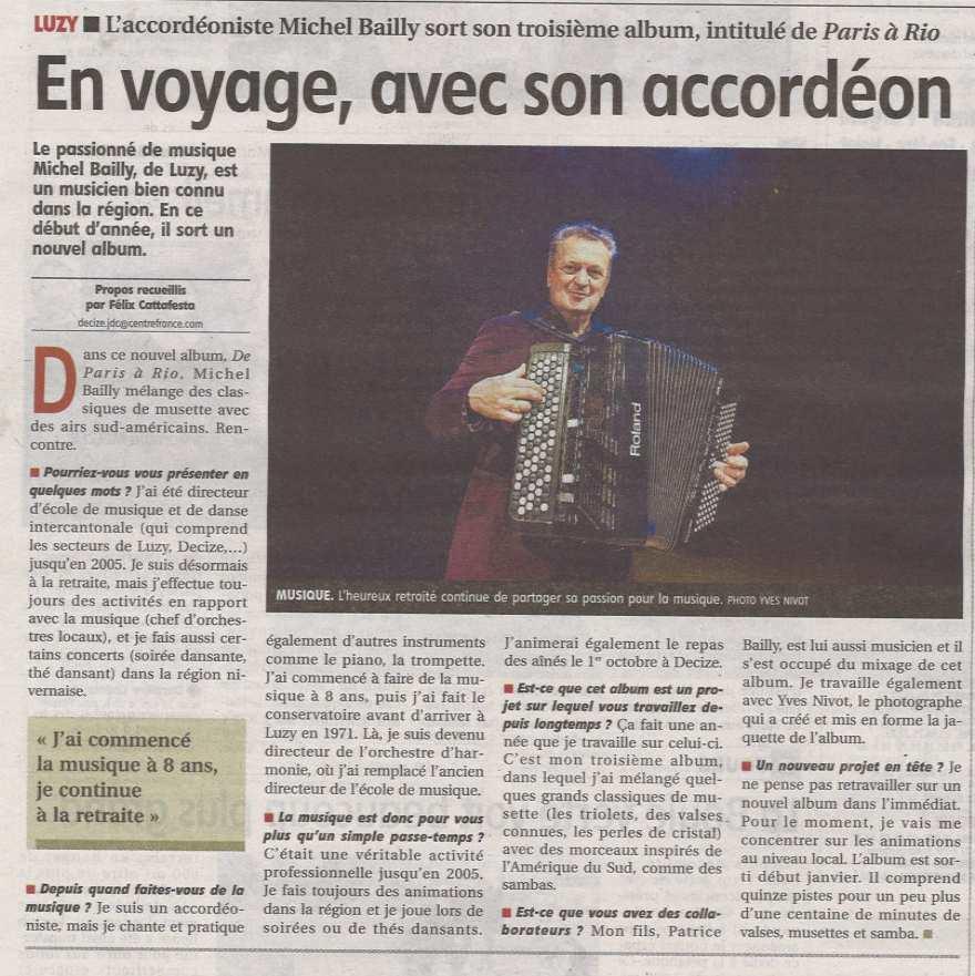 Fes'Tilleuls 2018 - Michel Bailly en concert à 16 h